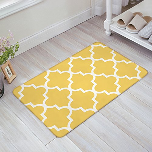 Doormat Moroccan Trellis Pattern Doormats Floor Mat Door Mat Rug Indoor/Outdoor Mats by YEHO Art Gallery 23.6