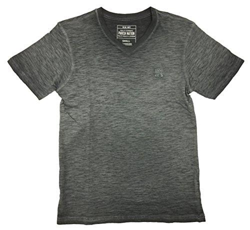 Parish Nation Basic Inset V-Neck T-Shirt (L, (Inset V-neck)