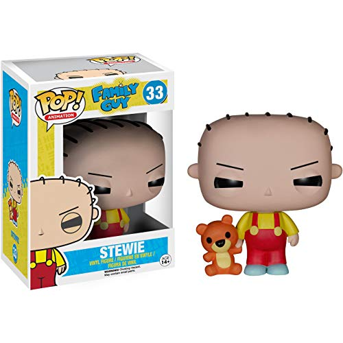 Funko Stewie: Family Guy x POP! Animation Vinyl Figure & 1 POP! Compatible PET Plastic Graphical Protector Bundle [#033 / 05240 - B]