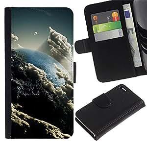 All Phone Most Case / Oferta Especial Cáscara Funda de cuero Monedero Cubierta de proteccion Caso / Wallet Case for Apple Iphone 4 / 4S // Space Planet Galaxy Stars 57