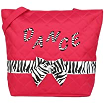 New Girls Pink Zebra Small Dance Tote Bag
