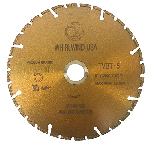 Whirlwind USA TVBT 5 in. All Purpose Metal Cutting Dry or Wet Cutting Vacuum-Brazed Segmented Diamond Blades for Metal and Plastic Materials (Factory Direct Sale) (5