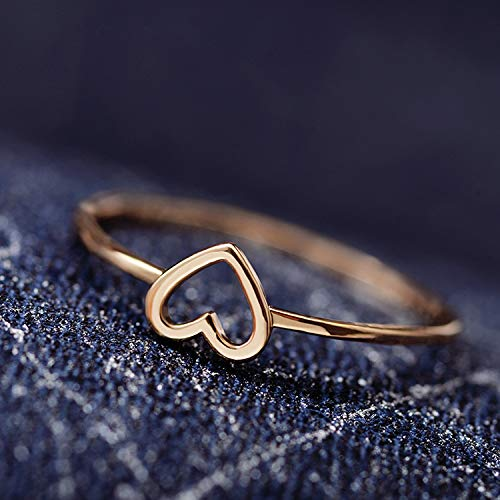 Zhengzhe Simple Hollow Love Heart Heart Ring Copper Jewelry Silver Ring