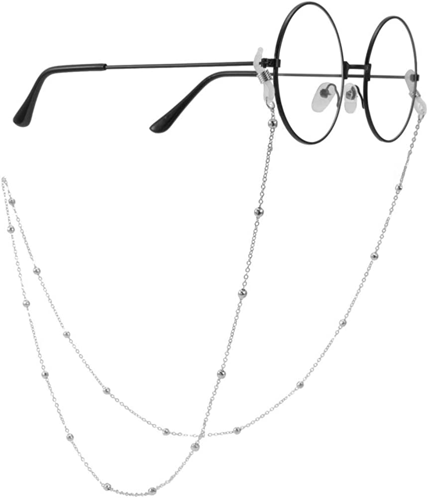 ASTOFLI Eyeglass-Chains, Eyewear Accessory, Silver Color Sunglasses Strap Holder, Stainless Steel Reading Glasses Retainer