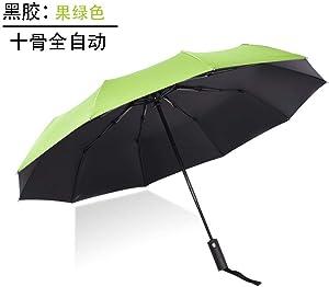 Folding umbrella - full automatic umbrella, green