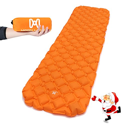 Moon Lence Sleeping Pad for Camping Backpacking Ultralight Compact Air Pad Inflatable Lightweight Sleeping Mat Portable Outdoor Hiking Mattress