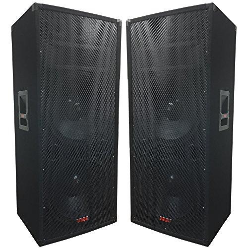 "A Pair of Dual 15"" Speakers - 1500 Watts 3-way - Adkins Pro Audio - DJ Speaker - Great for parties and Weddings"