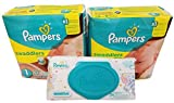 Health & Personal Care : Pampers Swaddlers Diapers, Size 1, 20 Count Pack of 2 (Total of 40 Pampers) - Pampers Sensitive Wipes Travel Pack 56 Count.