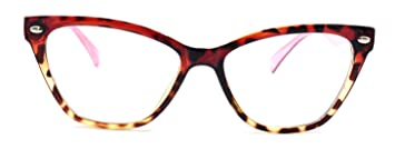 3ca3d290b8e Image Unavailable. Image not available for. Color  Women s Cat Eye Glasses  Clear Lens Eyeglass Frames Tortoise Pink