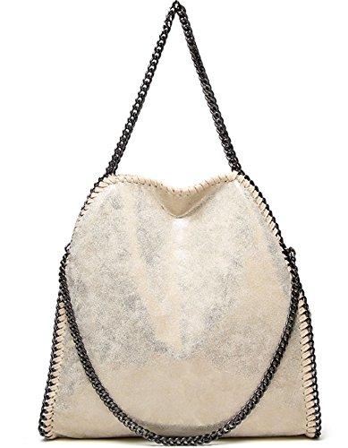 Large de Filles Chaîne Capacité pour Noir Femmes Sac Tissu Travers Or Sangle Porté Bandoulière Rovanci Epaule Main à q6BFPxwC8