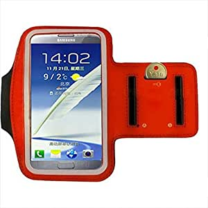 Iwoo Running Gym Belt Phone Arm Band Holder for Samsung Galaxy N7100 (Red)
