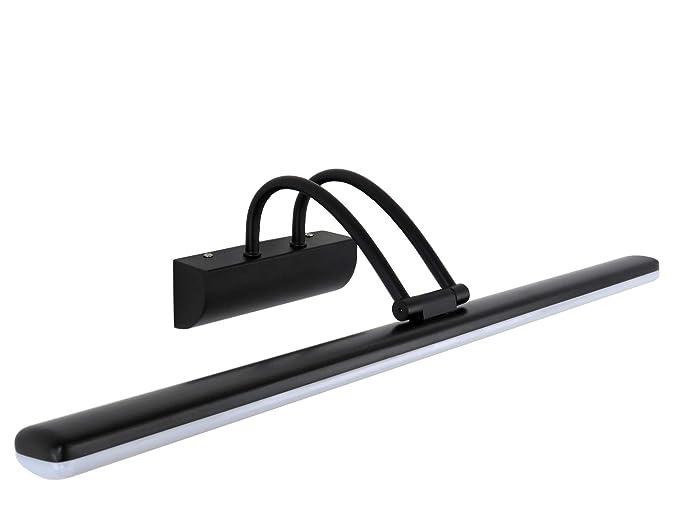 W applique moderno nero orientabile a led k per specchi