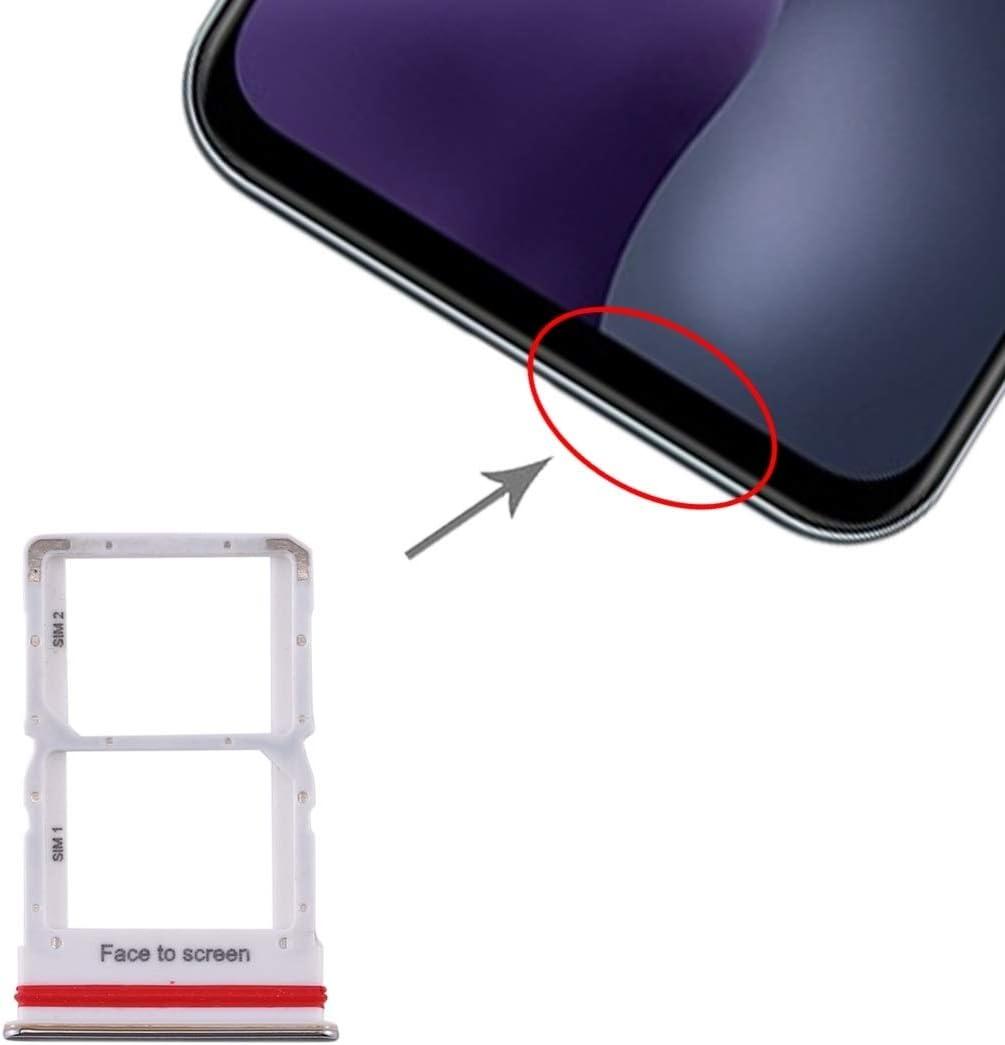 Bandeja de la Tarjeta SIM Bandeja de Tarjeta SIM + Bandeja de Tarjeta SIM for Xiaomi MI 10 Lite 5G (Negro) (Color : Silver)