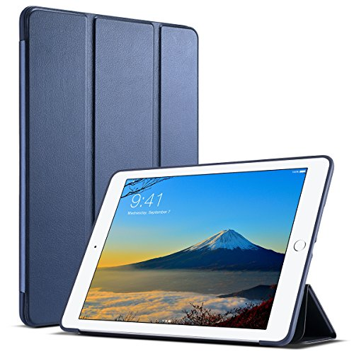 ULAK iPad 9.7 2018/2017 Case, Slim Lightweight Smart Case Trifold Cover Stand with Flexible Soft TPU Back Cover for iPad Apple iPad 9.7-inch Auto Sleep/Wake- Navy Blue by ULAK