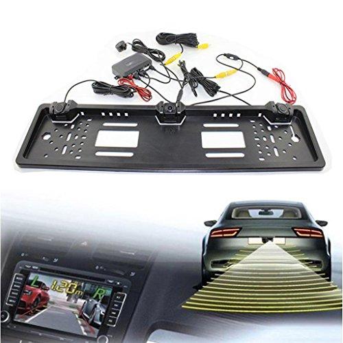 Car Backup Camera, Dacawin Licence Plate Waterproof radar reversing camera (Silver) by Dacawin