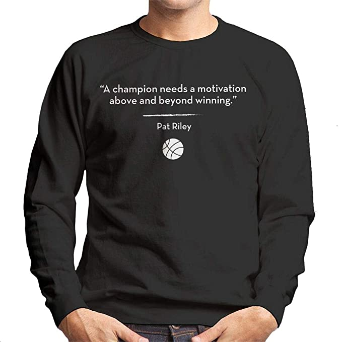 A Champion Needs A Motivation Above and Beyond Winning Quote Mens Sweatshirt: Amazon.es: Ropa y accesorios