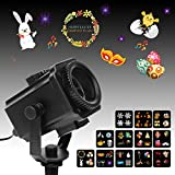 Easter Projector Lights, MeeQee Exclusion Design 12 Slides Holiday Projector Light Show Waterproof Light Projector Outdoor/Indoor Decorative Light for Easter Birthday Party