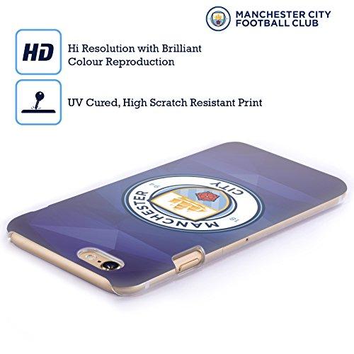 Officiel Manchester City Man City FC Obsidienne Couleur Pleine Badge Géométrique Étui Coque D'Arrière Rigide Pour Apple iPhone 5 / 5s / SE
