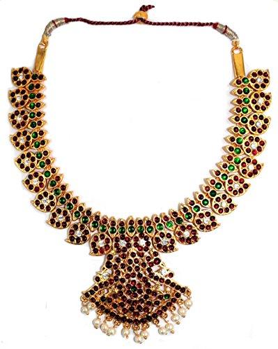 Temple Jewelry Imitation Temple short necklace Delux Manga Malai necklace