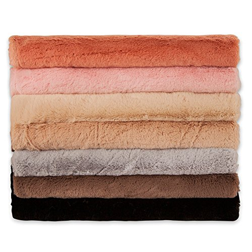 - Neotrims Imitation MINK Faux Fur Fabric, Luxury Soft Minky Feel in 7Colours, Beautiful Luxurious Handle, Lightweight, Perfect for Photography Backdrops or Dress making Crafts, Ideal for Babies. Mink Cuddle Blankets, Throws, Bed Covers, By The Metre