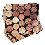 True by True Fabrications Wine Bottle Corks 5x5'' Bright, Colorful Cocktail Napkins for Parties, Dinners, Bars