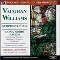 Vaughan Williams: Symphony No. 6 / Dona Nobis Pacem cantata ~ Avravanel