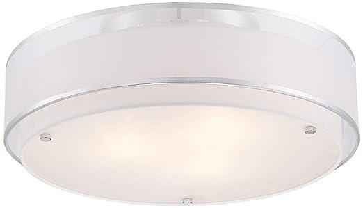 Possini Euro Design Double Organza 20 Wide Ceiling Light Amazoncom