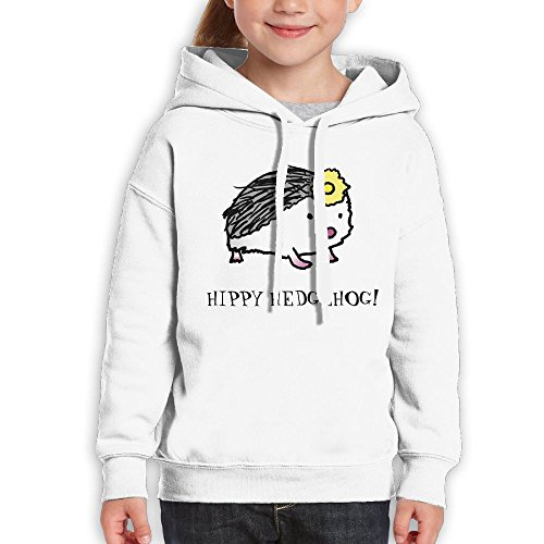Anraglan Hippy Hedgehog Boys Long Sleeve Pullover Hooded Sweatshirt White Size XL (Soap Creed White)