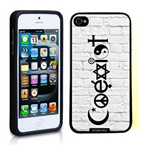 Iphone 5 5S Case Thinshell Case Protective Iphone 5 5S Case Shawnex Coexist White Bricks