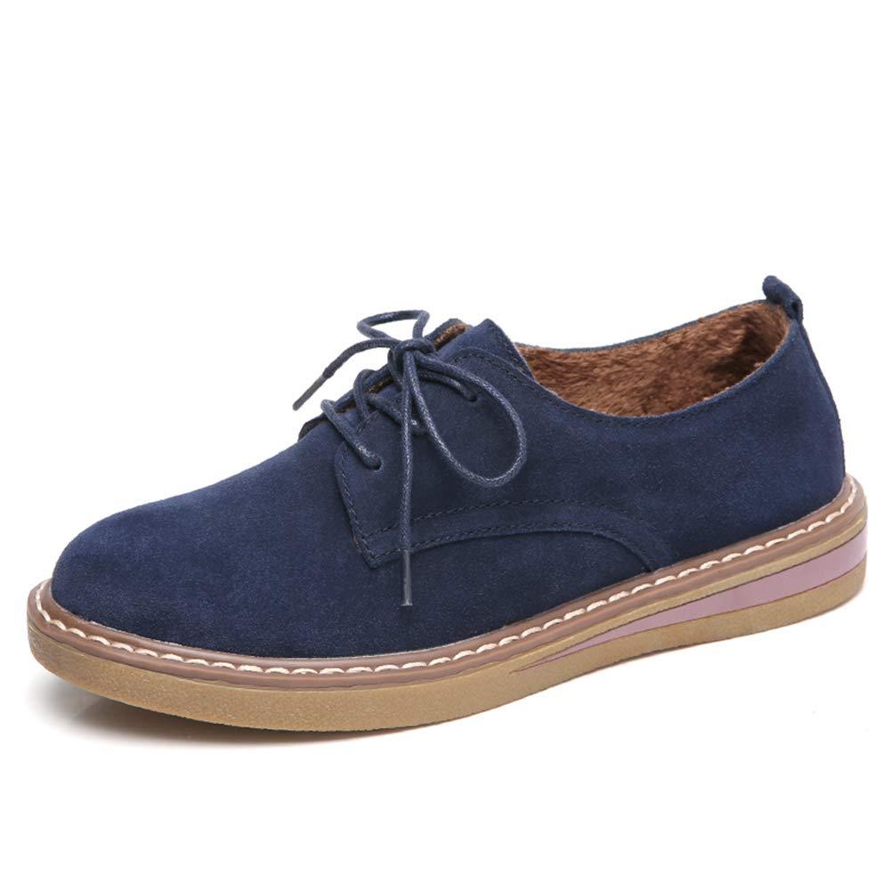 Plataforma de Zapatos Casuales de Cuero Real para Mujeres en otoño e Invierno ZPX-008