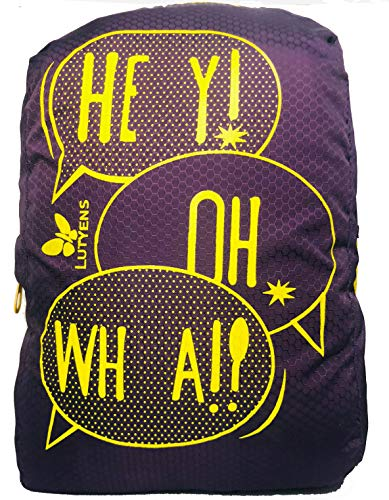 Lutyens Polyester Mini School Bag Casual Backpack  Purple Yellow