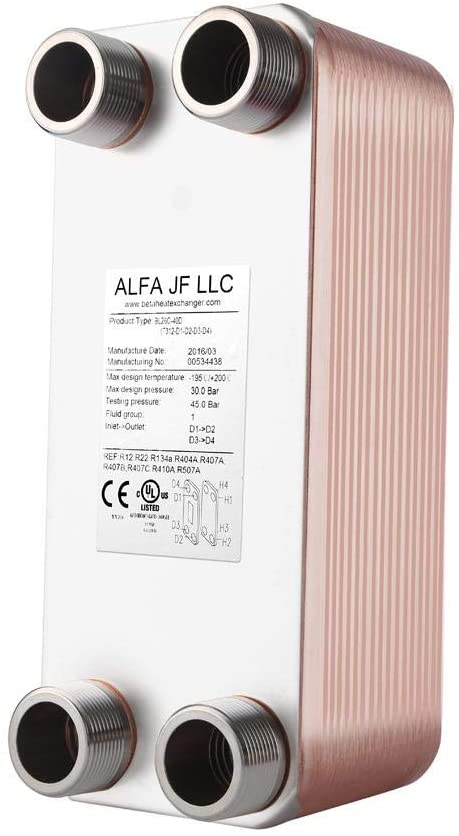 Best for coolest weather: AB Plate Heat Exchanger