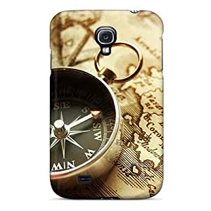 linJUN FENGSpecial Design Back Compass Phone Case Cover For Galaxy S4