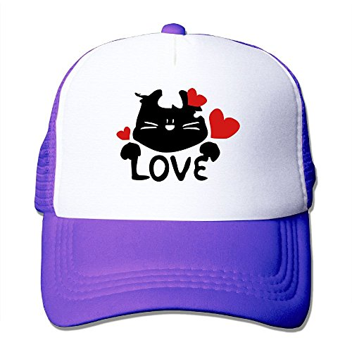 NONGFU Love TXT & Kitty Cat-9 Big Foam Mesh Hat Mesh Back Adjustable (Cat In The Hat Custome)