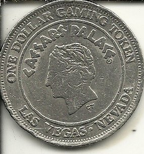 $1 caesars palace carriage 1992 casino gaming token coin las vegas nevada obsolete