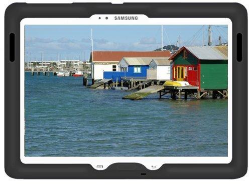 Bobj Rugged Case for Samsung Tab PRO 10.1 Models SM-T520, SM-T525 and Note 10.1 2014 Ed. Models SM-P600, SM-P601, SM-P605, SM-P607 - BobjGear Sound Amplification - Kid Friendly (Bold Black)