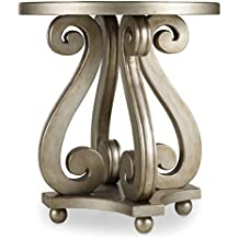 hooker furniture luna accent table silver