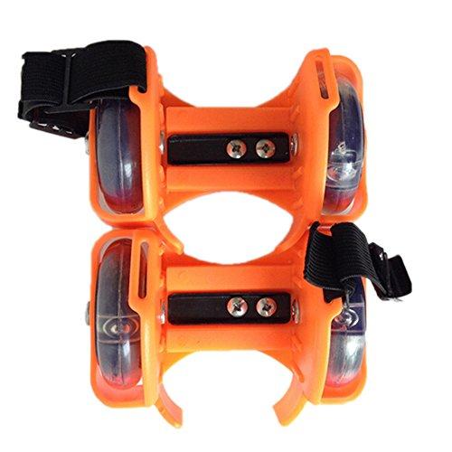 Kids Led Shoe Roller Skates Orange