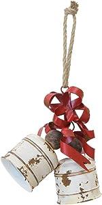 Boston International Decorative Bell Ornament, Winchester White