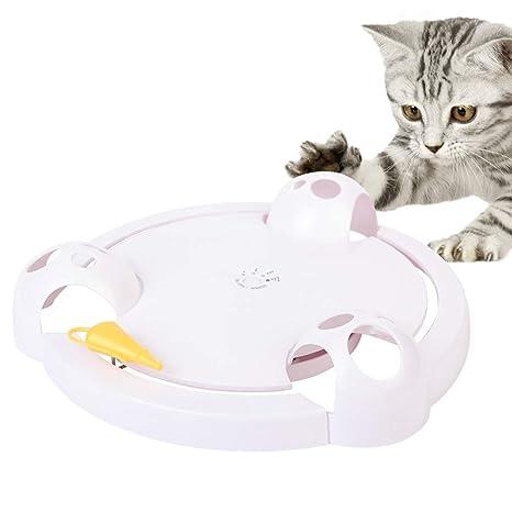 ONEVER Gato Juguete Interactivo Gato Eléctrico Ratón de Captura Juguete Electrónico Ajustable Batería Operado Juguete Auto