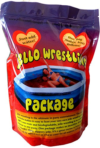 Bulk Red Jello Wrestling Jello - Makes 100 Gal. Easy Set Jelly. No Refrigeration or Boiling Water Required (RED).