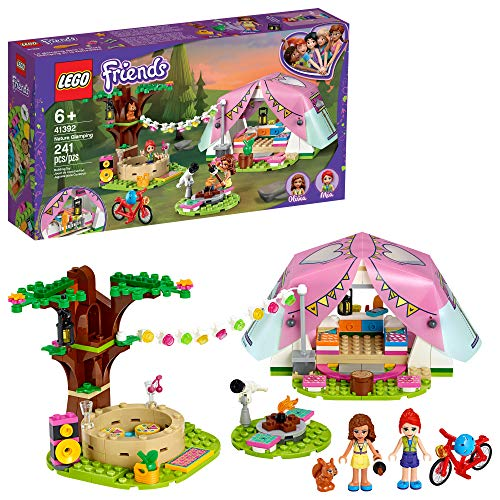 LEGO Friends Nature Glamping 41392 Building Kit; Includes Friends Mia, a Mini-Doll Tent and a Toy Bicycle, New 2020 (241 Pieces)