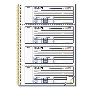 Rediform - Geld Quittung Buch, 7 x 2 3/4, kein Kohlepapier, Twin ...
