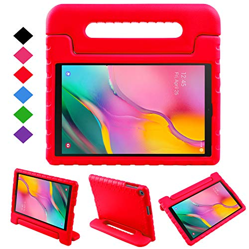 NEWSTYLE Kids Case for Tab A 10.1 2019, Shockproof Light Weight Protection Handle Stand Case for Samsung Galaxy Tab A 10.1 Inch (SM-T510/T515) Tablet 2019 Release (Red) (Best Tablets 2019 For Kids)
