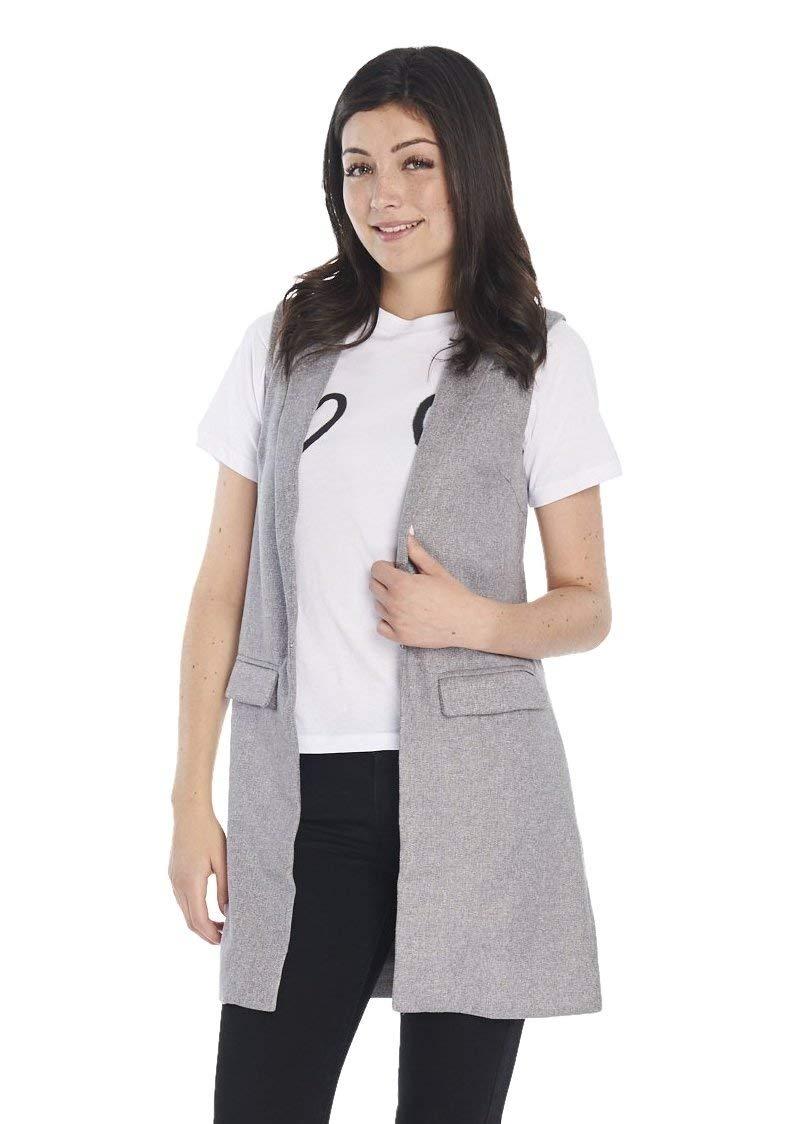 MINKPINK Women's Twill Vest (Grey Marle)