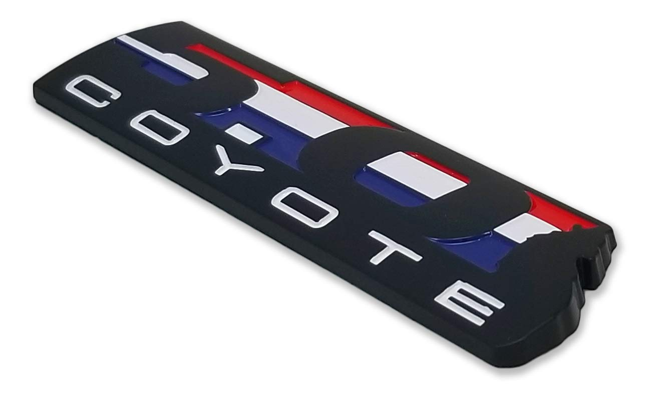 2x 5.0 COYOTE Wolf ABS USA Black Emblem Sticker Body Decal For GM MUSTANG GT