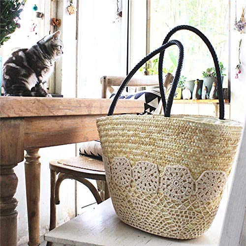 Bag Handbag JXS Handmade Woven Bag Diagonal Shopping Grass Women's Beach YwxwZ8qv