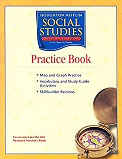 Amazon houghton mifflin social studies assessment options houghton mifflin social studies practice book volume 1 level 5 us history early years fandeluxe Images