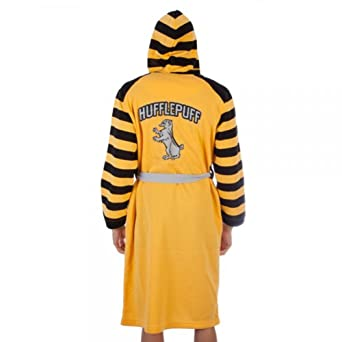 Harry Potter House Hufflepuff Adult Yellow Bath Robe Costume (L/XL) at Amazon Mens Clothing store: