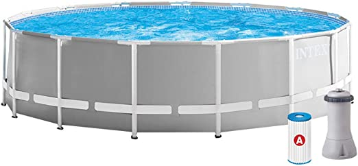 Intex 26726NP Piscina desmontable redonda, con depuradora, 457 x 122: Amazon.es: Jardín